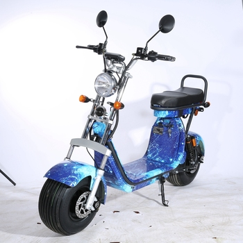 2019 newest two seat electric  2 wheel fat tyre long range citycoco scooter  with three removable battery