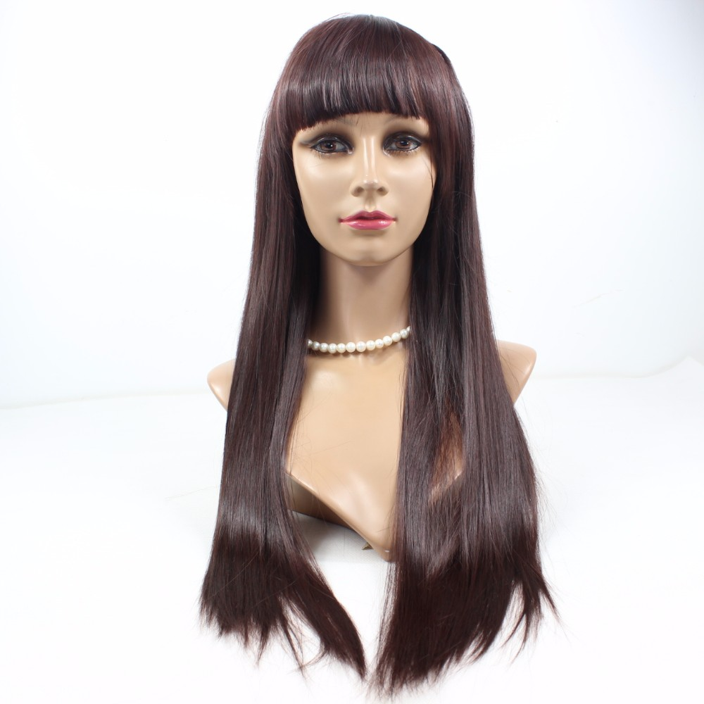 High density full lace human hair wig use Brazilian hair real human hair ZWJ03