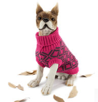 Direct-Factory Wholesales Customized 100% Acrylic Yarn Dog Sweater For Winter Pet Free Pattern Knitted Pet Clothes