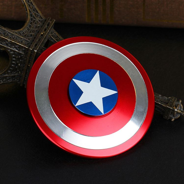 Anti-stress Toy Fidget Hand Finger Spinner Toys Plastic Captain America Ironman Spiner Beyblade Rotating Top Adult Kids Toy