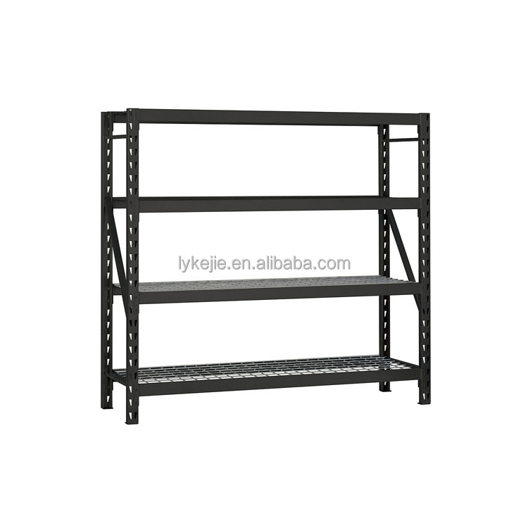 Heavy Duty Pallet Rack Systems Four Layers Metal Frame Rack Stainless Steel Free Standing Shelf