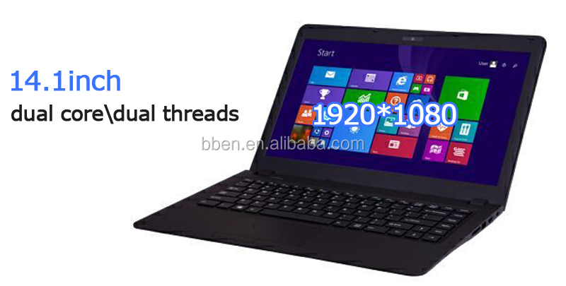 2016 New laptop!!! 14inch Intel 3050 Braswell 14nm Quad-Core CPU up to 2.08-2.4GHz, 1T ordinateur portable computer
