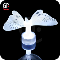 Hot Selling Battery Operated Butterfly Shaped For Cake Decoration Led Light Up Butterfly