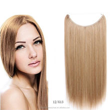 Cheap factory price 100% Human Remy Hair Famous Brand Supplier Halo Flip in Extension fish thread hair extension