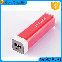 Portable lipstick power bank /battery charger for iphone/samsung/huawei/xiaomi