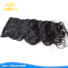 KBL Easy to dye clip on hair extensions walmart hair,clip in malaysian hair extensions,no tangle sticker hair extensions