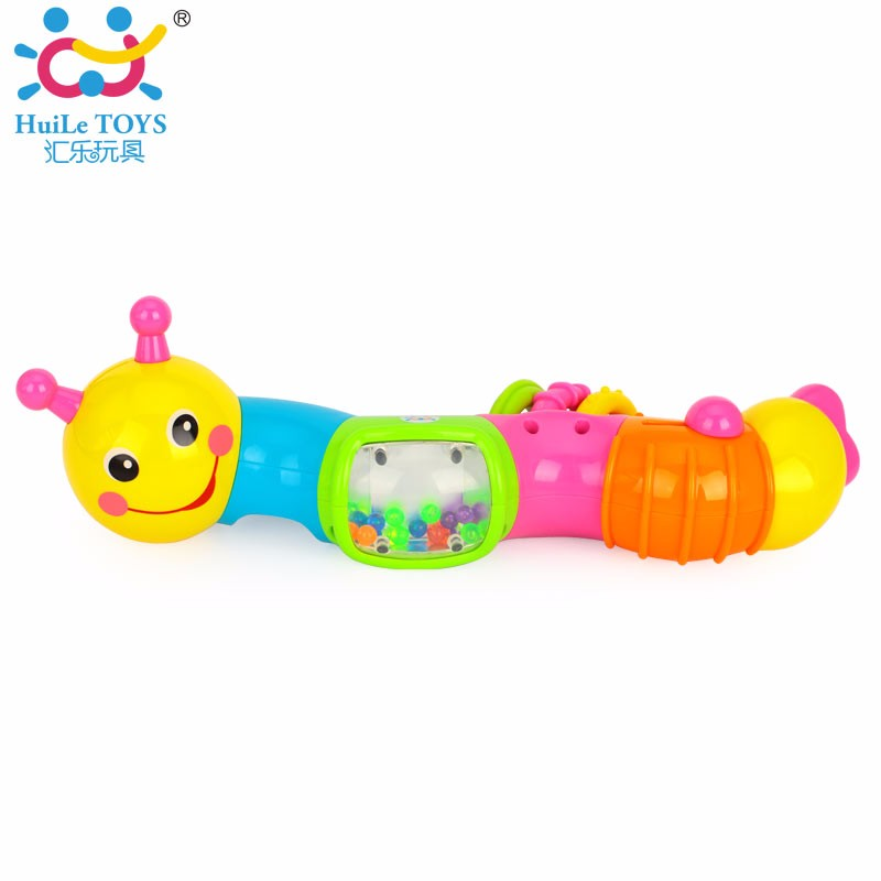Huile plastic caterpillar toys with baby teething 786B