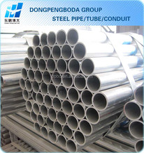 BS1387 GI fluid water metal steel round pipe