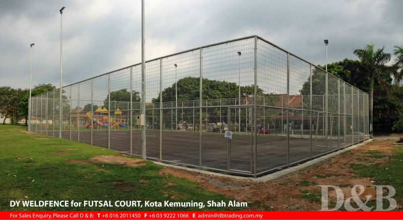 DY Rolltop Weldfence as Futsal Court