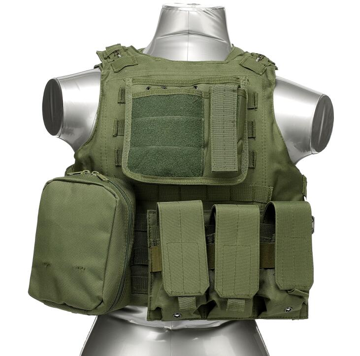 manufactory wholesale outdoor men women army green molle security hunting military tactical vest