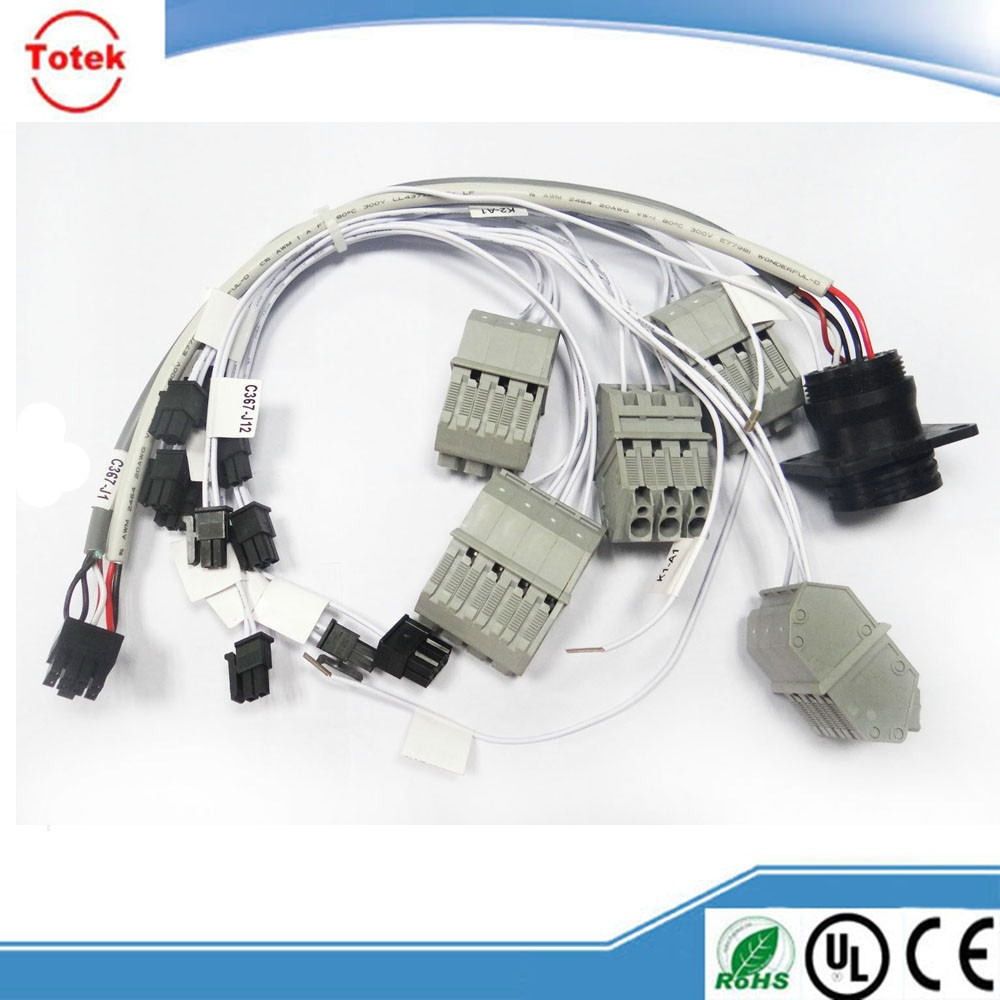 Automotive Wire Harness and cable assembly with AMP , Molex and JAE Connectors