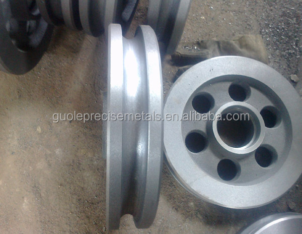 Investment Casting Stainless Steel Casting /GREY IRON CABLE WHEEL HT200 6KG