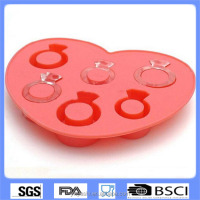 New Diamond Ring Ice Cube Tray fashion mold silicone kitchen water party