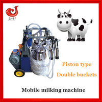 Vacuum pump type daily farm portable cow milker