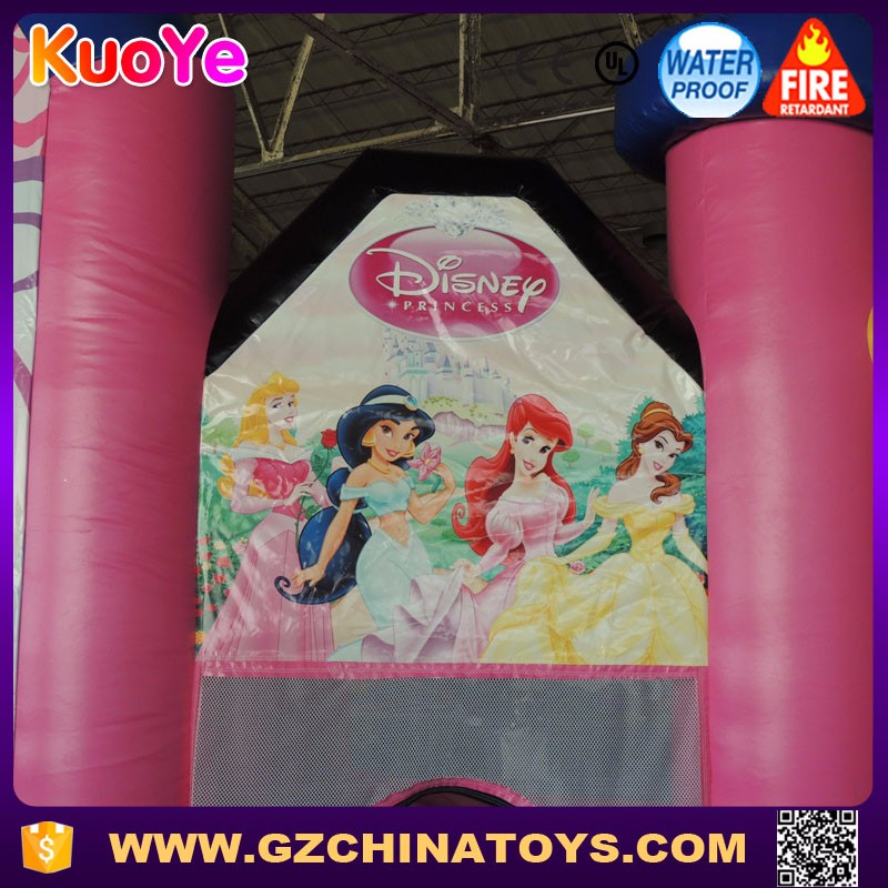 Wholesale princess bouncer inflatable bouncy castle with slide for sale
