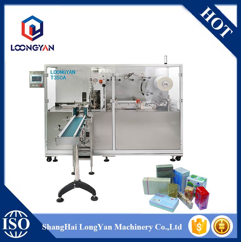 T350A Shanghai CE Approved 3D cellophane overwrapping machine used for cosmetics,food,pharmaceutical industry