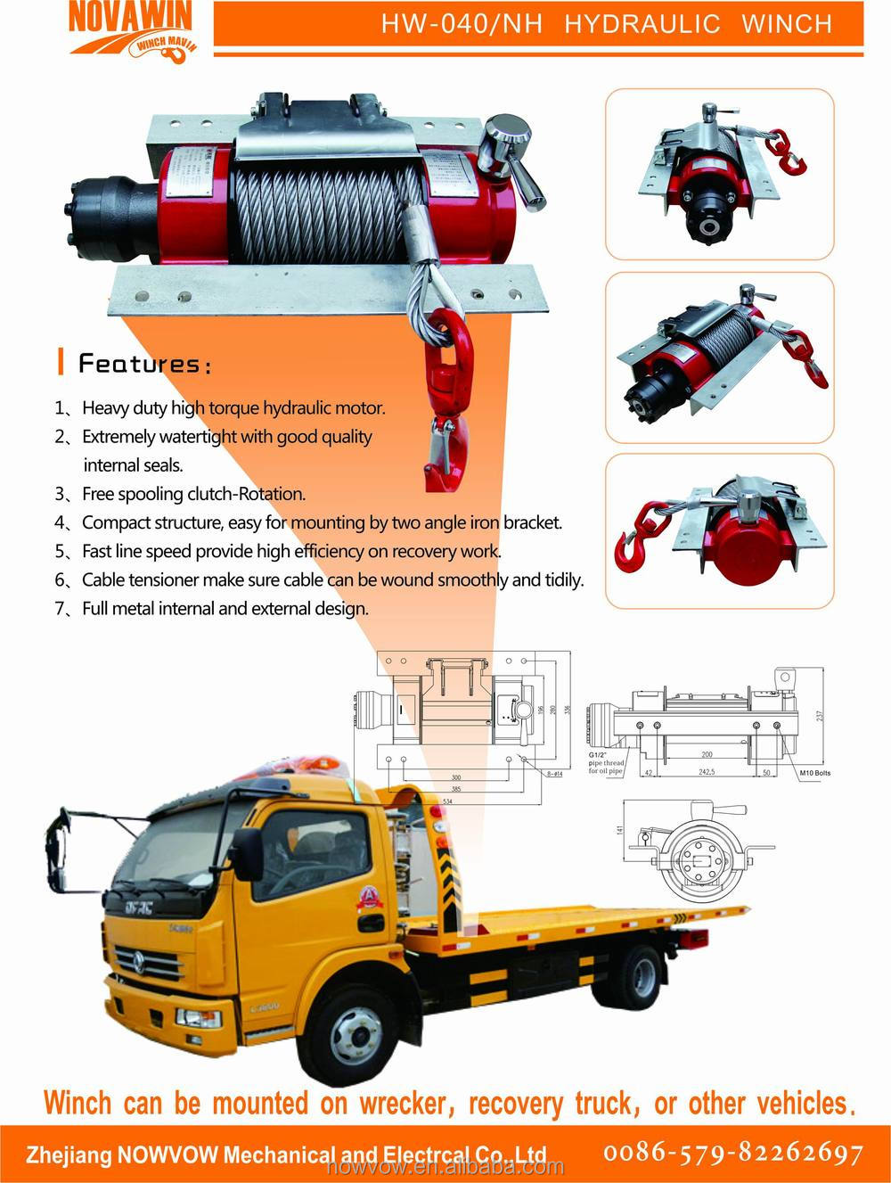4 Ton Hydraulic Winch