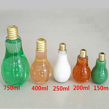 new design beverage glass bottle bulb shape juice bottle