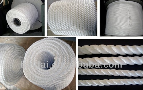 3 Strand twisted polyester rope with high breaking strength