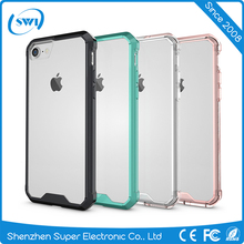 Cheap Price Cell Phone Accessories for iPhone 7, Transparent TPU Back Cover for iPhone 7 Case