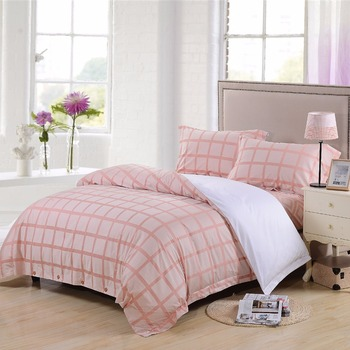hotel textiles 100% cotton chequer jacquard csingles omforter bed linen sheet besheet bedding sets
