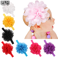 Multicolor Newborn Chiffon Flower Headband,Chiffon Rosette Baby Headband,Elastic Hair Band WOH-011