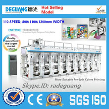 High quality automatic rotogravure printing machine for plastic film