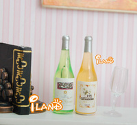 Dollhouse Drink Two Bottles White Wine Dollhouse Miniatures Dining Drinks FE0143