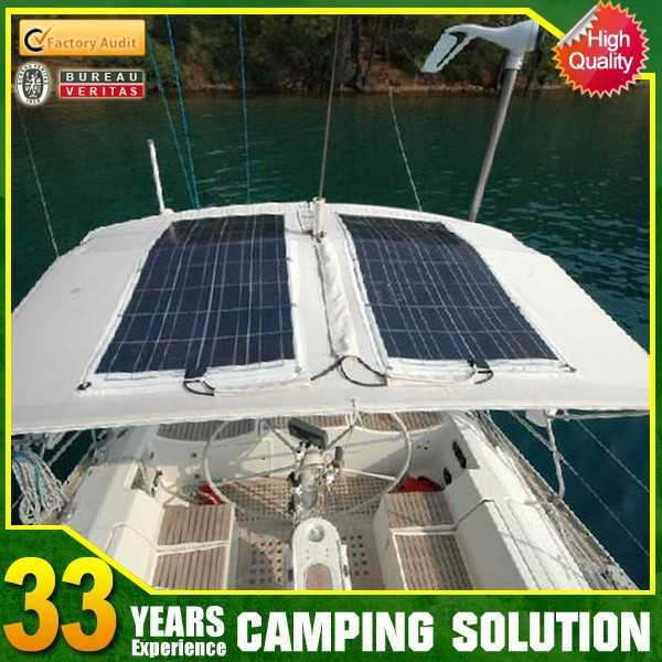 Semi Flexible Solar Panels for Boats
