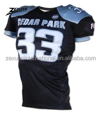 Cheapest price sublimation printing navy american football jerseys uniforms customized