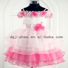 2013 new fashion strapless pink princess kids sexy dresses