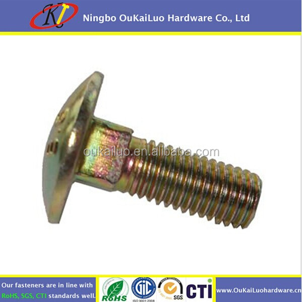high quality oukailuo carriage bolt square neck M10