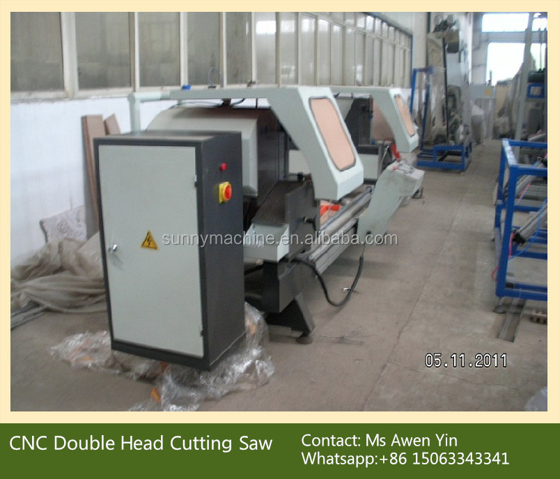 CNC Double Head Cutting Saw for aluminum and pvc profile / Double Head Cutting Saw Machine
