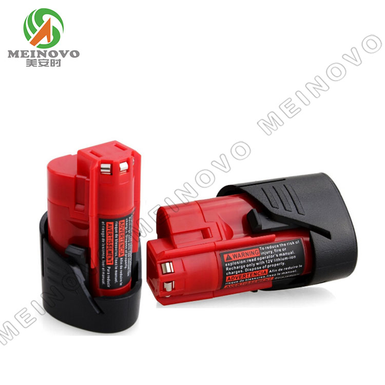 M12 10.8V 2.0Ah Li-Ion power tool battery for MILWAU 48-11-2401, 48-11-2402, <strong>C12</strong> B, <strong>C12</strong> BX, M12B