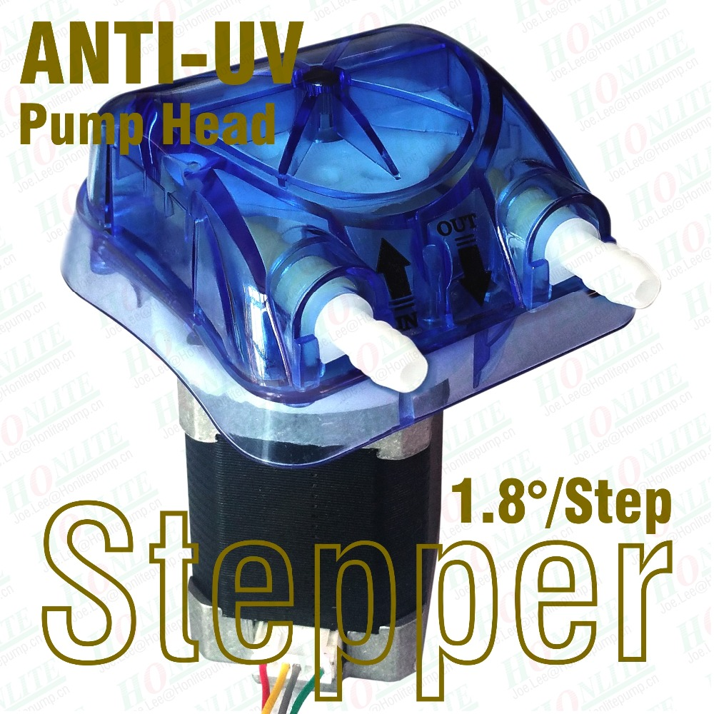 24Vdc, 1100ml/min 1.8d/step Stepping Peristaltic Pump with ANTI-UV pump head and FDA approved Tygon E-LFL peristaltic tube