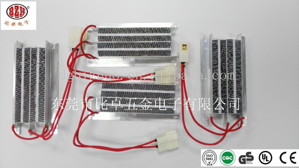 PTC corrugated heaters for electric car fan