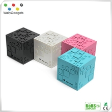 2016 New Arrival Portable Waterproof Mini Cube Bluetooth Speakers with Remote