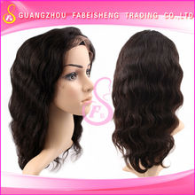 Wholesale 6A top grade virgin brazilian human hair lace front wig