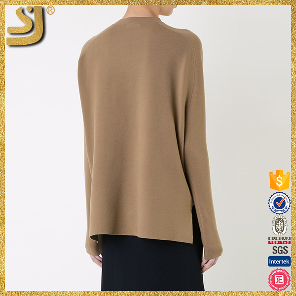 OEM factory price women camel wool sweater, german sweater pullover