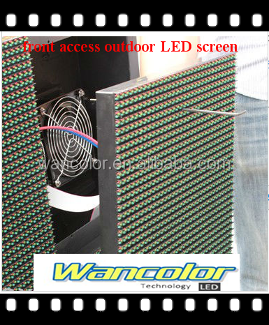 Outdoor front access p10 LED module front maintenance P10 outdoor front service LED display module