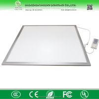 High quality elegant white/silver color frame 2835SMD 6060 36W 40W 45W 54w led ceiling commercial panel light manufacturers