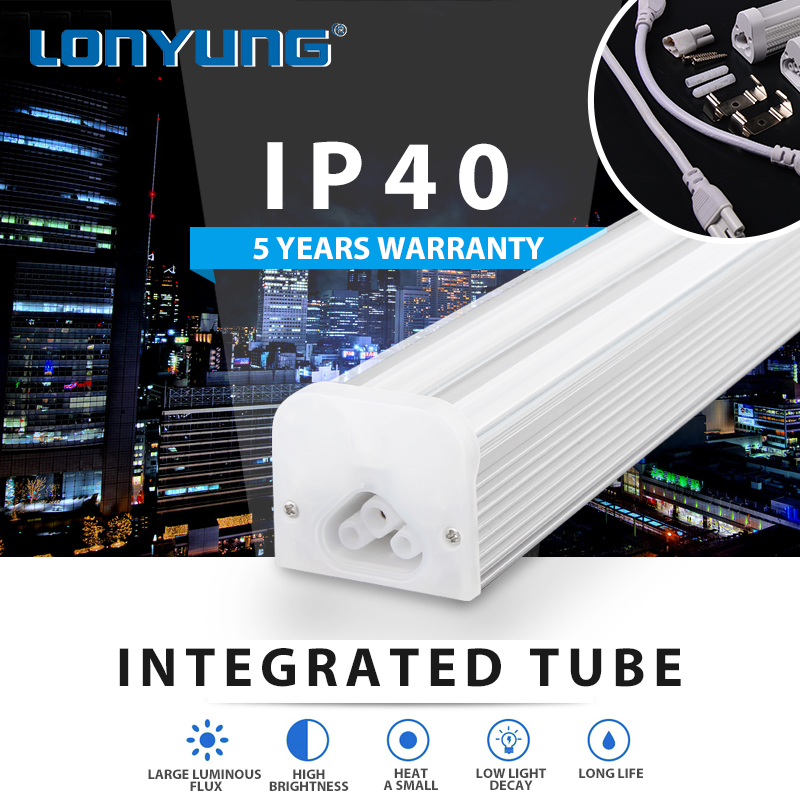 Factory 1ft 2ft 3ft 4ft 5ft 6ft 8ft indoor light lamps t5 led tube integrated