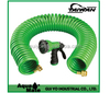 Expanding Hose Green Flexible Expandable Safe Polyurethane Curly Spiral Coil Garden Outdoor Home, Garden, Supply