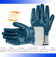 nitrile coated cut resistant hand heavy duty rubber gloves