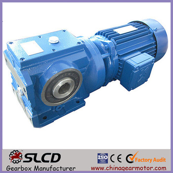 S helical worm gear unit gearbox motor for lifting machine
