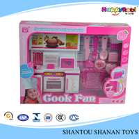 Hot sales kids plastic cooking play food set