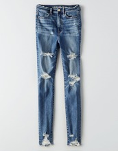 Classical denim ripped jeans,womens new model latest design jeans pants