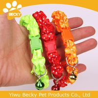 lovely flower with bell collar dog collar pet products