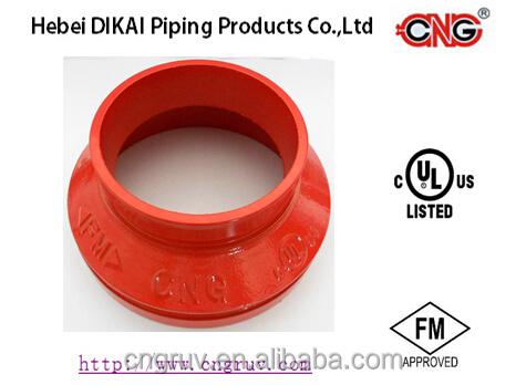 FM Approved Ductile Iron grooved couplings and fittings grooved concentric reducer