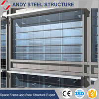 aluminum modern commercial office building glass curtain wall